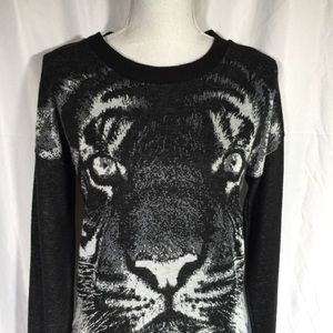 Say What? Sweaters - Say What? Tiger Graphic Long Sleeved Sweater 🦖